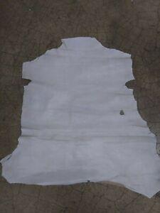 Italian Goatskin Hide leather skin Distressed Off White. 1 oz. 0.5 mm