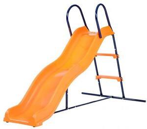 Hedstrom Kids Childs Wavy Step Slide Chute Playground Garden Fun Play Toy Orange