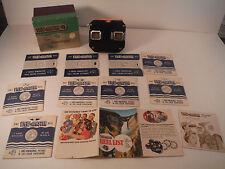 VINTAGE LOT 1952 VIEWMASTER STEREOSCOPE BOX ADS & 9 REELS WASHINGTON DC TETONS