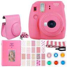 Fujifilm Instax Mini 9 Instant Camera (Flamingo Pink) + Case + Album - Top Kit!