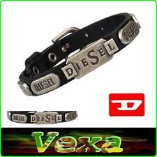 New DIESEL Genuine Leather Bracelet Black Bangle Wristband Mens Womens Surf BD16