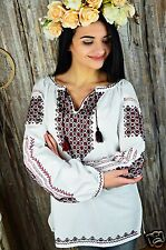 Ukrainian HANDMADE embroidered traditional shirt, blouse, sorochka vyshyvanka