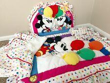 Vintage Disney Mickey Mouse Balloons Nursery/Crib Bedding *Rare