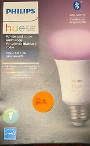 Philips Hue A19 Bluetooth Smart LED Bulb 60W White + Color Ambiance (548487) #2z