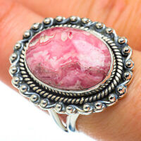 Rhodochrosite 925 Sterling Silver Ring Size 8.5 Ana Co Jewelry R50003F