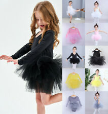 UK Girl Kids Ballet Tutu Dress Gymnastics Leotard Ballerina Dance Costume