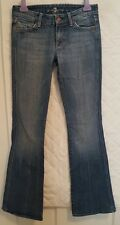 7 For All Mankind Juniors Size 26 Jeans Inseam 32 Slight Flare Jeweled Back