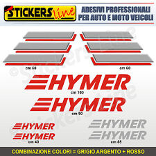 Kit completo 8 adesivi camper HYMER loghi M.4 stickers caravan roulotte decal