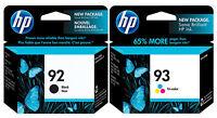 GENUINE NEW HP 92/93 (C9362WN/C9361WN) Ink Cartridge 2-Pack