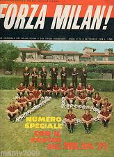 FORZA MILAN!=N°9 1974 ANNO VI=ROSA MILAN GIAGNONI FOTO RIVERA E C.=NO POSTER
