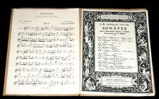 sonate en Sol majeur harmonisée pour violon violoncelle piano 1950 J.B. Loeillet