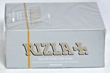 10x  (320) RIZLA SILVER KING SIZE SLIM CIGARETTE SMOKING ROLLING PAPERS ORIGINAL