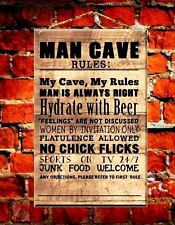 Man Cave Plaque FUNNY WOODEN SIGN Fathers Day Gift, Games Room, Boys Bedroom