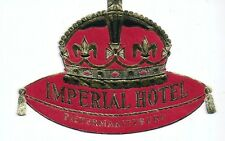 Hotel luggage label Imperial Hotel Pietermaritzburg, South Africa - Gold - MINT
