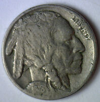 1918 D Buffalo Nickel Coin Indian Head Five Cents US Type VG 5c Very Good
