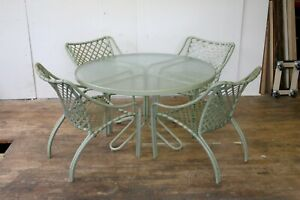 Vintage Brown Jordan Kailua Outdoor Patio Dining Set with Table and Four Chairs