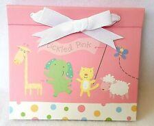 Hallmark Pink Girls Baby Photo Album Animals Giraffe Elephant Sheep Tickled Pink