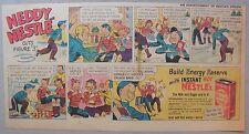 Nestle's Cocoa Ad: Neddy Nestle Cuts Figure 3 1940's-50's Size:7.5  x 15 inches
