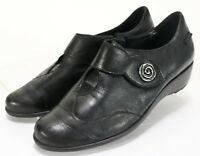 Mephisto Air-Jet $180 Women's Loafers Shoes Size 7.5 Leather Black