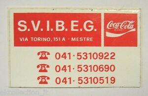 VECCHIO ADESIVO ORIGINALE / Old Original Sticker COCA COLA MESTRE (cm 8 x 5) g