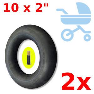 "2x INNER TUBE 10x2.0"" SCHRADER VALVE BIKE KID CHILDREN STROLLER BABY PUSH CHAIR"