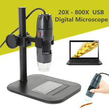 20-800X USB Digital Microscope Endoscope Zoom Video Camera Magnifier with Stand