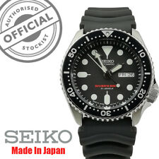 Seiko Japanese Made Divers Automatic 200m Black Rubber Strap Mens Watch SKX007J1