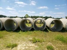 """44 Total CONCRETE DRAINAGE CULVERT PIPE 8 FT LONG 48"""" RCP"""
