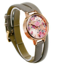 Kahuna Ladies Watch KLS-0328L-1- Rose Gold & Floral Dial Grey Cross Over Strap