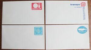 USA – Set of 4 – Postal Stationery Envelopes – 6c to 8c – UM (MNH) (Se8)
