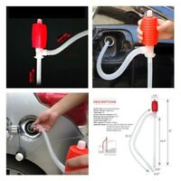 Manual Hand Siphon Pump Hose Oil Liquid Gas Syphon Transfer Pump For Car Newest