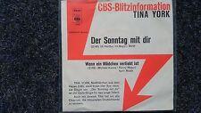 Tina York - Der Sonntag mit dir 7'' Single PROMO