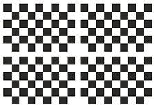 4 un. Negro Y Blanco Carreras Bandera a Cuadros Vinilo Coche Moto Pegatina cada 90x60mm