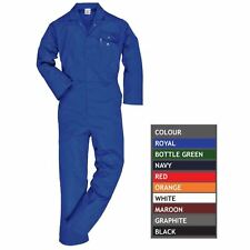 Standard Work Coverall Stud Front Elastic Back Waist Boilersuit Overalls S - 5XL