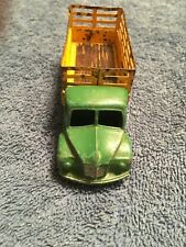 1940s DODGE FARM PRODUCE WAGON STAKE TRUCK~1954-64 DINKY TOYS #343~ GREEN/YELLOW