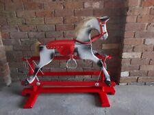 Dapple grey wooden rocking horse