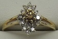 14CT YELLOW GOLD NATURAL CHAMPAGNE DIAMOND ENGAGEMENT/DRESS RING VALUED AT $2055