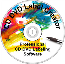 CD DVD Label Maker Creator Design and Print Disc Covers Labels PC Laptop