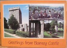 Irish PC Greeting BLARNEY CASTLE Cork Multiview Ireland Orange John Hinde 2/1892