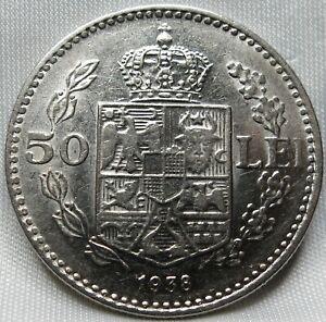 ROMANIA 50 lei 1938 XF Carol II. #C39