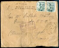 SPAIN CIVIL WAR TO FRANCE, VILLAROBLEDO Cancel on Cover, 1940, VF