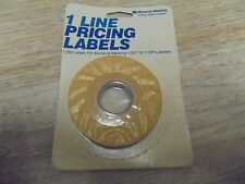 Monarch 1 line pricing labels 925008 Yellow 1,065 Label for 1105 & 1110 Labelers