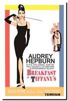 "AUDREY HEPBURN Classic Vintage Movie poster CANVAS ART PRINT 16""X 12"""