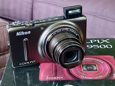 Nikon COOLPIX S9500 18.1MP Digital Camera - Bronze