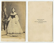 CIVIL WAR ERA LADY - CDV STUDIO PORTRAIT BY KEELY, PHILADELPHIA, PA