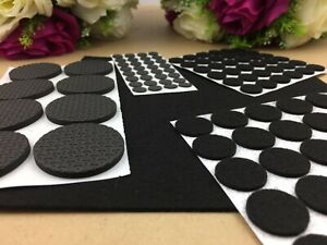 125 x Felt Round Pad Furniture Floor Protector Pads Self Adhesive Scratch tabs