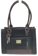 NWT Tignanello To The Point Shopper, Black/Dark Brown T57025A MSRP: $175.00