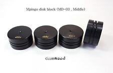 Ebony Audio feet base MD-03 Mpingo Disk block insulator isolator clubWOOD