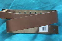 Perri's 2 inch Basic Leather Guitar Strap, Chestnut Brown, by Perri's, PLS-2183
