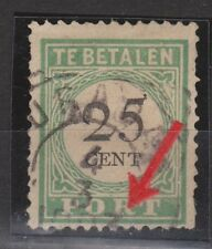 P17 Port nr 17 type 3 gestempeld used Curacao PLAATFOUT due portzegel